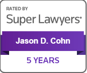 Super Lawyers for 5 Years, Jason D. Cohn